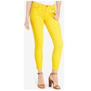 LRL Lauren Ralph Lauren Yellow Crop Jeans